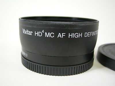 Vivitar HD4 AF MC High Definition 0.43x Wide Angle Converter w/macro