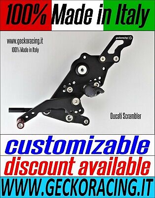 Adjustable Rearsets for Ducati Scrambler 100% Made in Italy | GeckoRacing