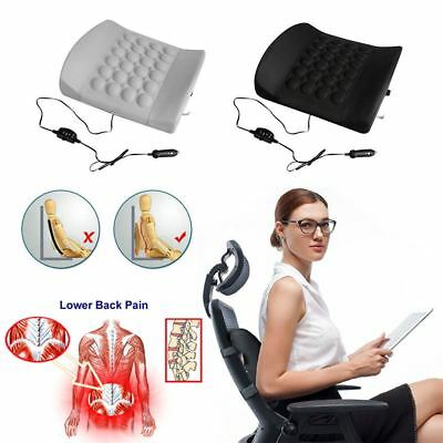 Lumbar Back Support Cushion Pillow Seat Car 12V MASSAGE vibration for Travel