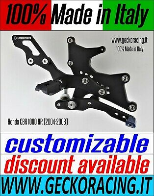 Adjustable Rearsets for Honda CBR 1000 RR (2004-2008) 100% Made in Italy