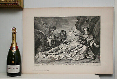 A Fine c19th Engraving, British Museum 1898, Schelte Bolswert, after Van Dyck