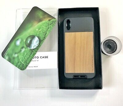 Genuine MOMENT Photo Case Walnut Wood And 10x Macro 25mm Lens V2 For Iphone X Xs