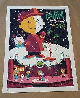 A Charlie Brown Christmas Variant AP Poster Print by Tom Whalen DHM Mondo