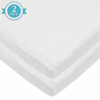 American Baby Company 100 Percent Cotton Jersey Knit Fitted Bassinet Sheet - 2CT