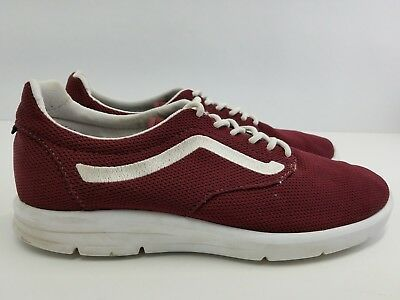 e275ad6741 VANS Ultracush Lite Iso 1.5 Unisex Shoes Suede Red Canvas Sneaker 500664 Sz  10.5
