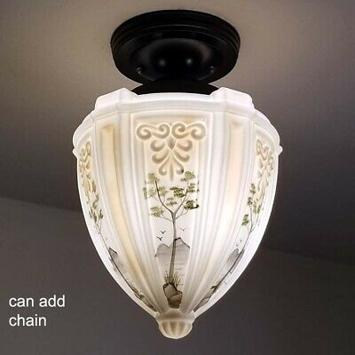 531b Vintage Antique Ceiling Light Lamp Fixture Fixture Porch Hall