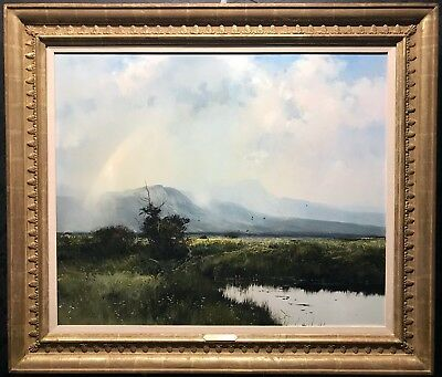 "MICHAEL B. COLEMAN Original Oil on Board ""Summer Showers"", Large, Major Painting"