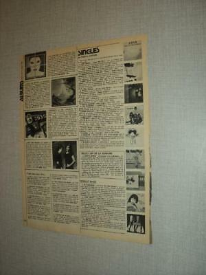 T450 Alessi Bill Champlin Magnum The Motels Asia '1982 Belgian Clipping