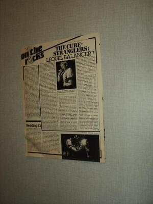 T632 The Cure The Stranglers Spear Of Destiny Thin Lizzy '1983 Belgian Clipping