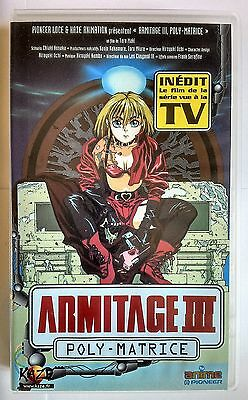 """Film D'animation """"armitage Iii: Poly-Matrice"""" Cassette Video Vhs"""