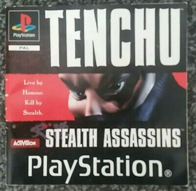 TENCHU STEALTH ASSASSINS Playstation PS1 - Manual Only