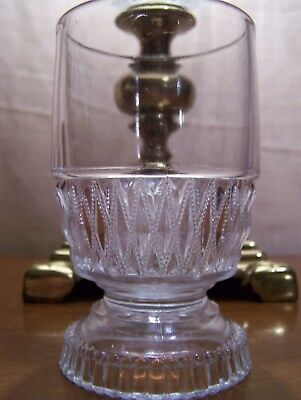 Vintage Clear Glass Celery Vase / Spooner Footed