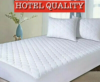 Extra Deep Quilted Mattress Protector - 25Cms Fitted Skirt - Silent Sleep
