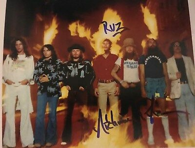 Artimus Pyle Lynyrd Skynyrd Signed Autographed 8x10 Survivors Pic w Inscription