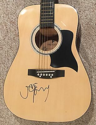 Joe Perry Signed Guitar Aerosmith Autographed Guitar Acoustic with exact Photo