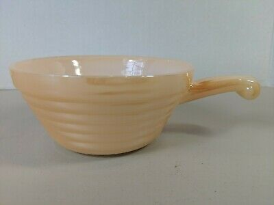 Vintage Anchor Hocking Fire King Oven Ware peach luster beehive soup bowl
