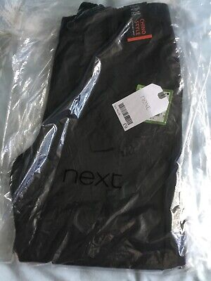 Next BNWT Chino Style Black Trousers Age 7 Years PLUS FIT Height 122cm X 3 Pairs