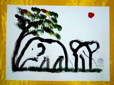 ELEPHANT PRINTING FROM THAI elephant conservation center Home Wall Decor gift