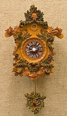 *Miniature cuckoo clock style clock magnet wall clock antique country style