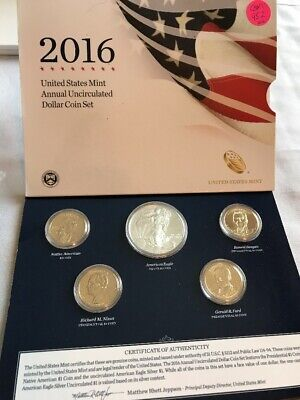 2016 US Mint Annual Uncirculated Dollar Coin Set OGP COM952