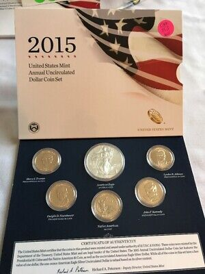 2015 US Mint Annual Uncirculated Dollar Coin Set OGP COM953