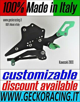 Adjustable Rearsets for Kawasaki Z800 100% Made in Italy GeckoRacing