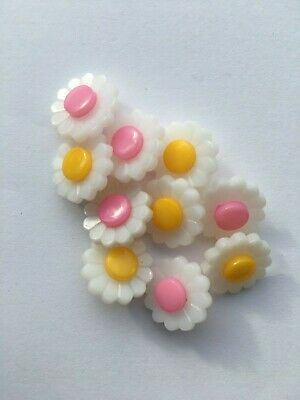 Daisy Flower Shank Buttons 15mm Sewing Knitting Craft Choice of colours
