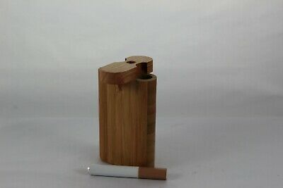 "3"" Fossilized Bamboo Wood Dugout One Hitter Twist Top With Aluminum Cigarette"
