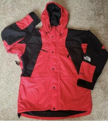 8786fbaed THE NORTH FACE Men's Gore-Tex Ski Jacket, Men's Large Red and Black Vintage  90's