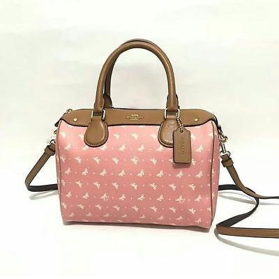 440a3471aeea Coach Mini Bennett Satchel Crossbody Blush Chalk Dots Butterfly Prints  F29806
