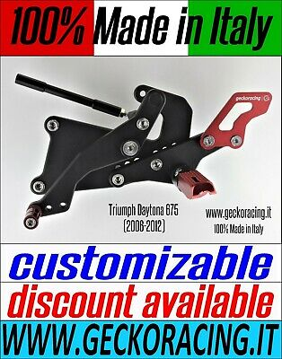 Adjustable Rearsets for Triumph Daytona 675 (2006-2012) 100% Made in Italy