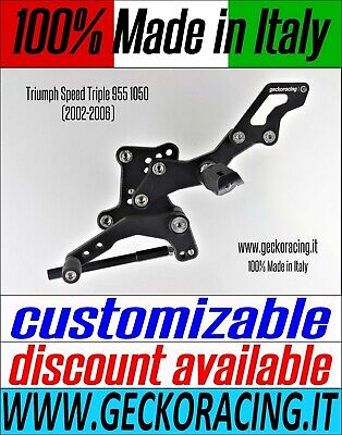 Adjustable Rearsets for Triumph Speed Triple 955 1050 (02-06) 100% Made in Italy