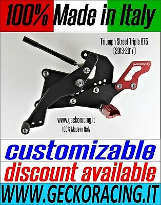 Adjustable Rearsets for Triumph Street Triple 675 (2013-2017) 100% Made in Italy