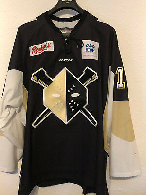 Game Worn - Wheeling Nailers (ECHL) Tommy Fallen #14 (56, XXL) - Penguins - RAR!