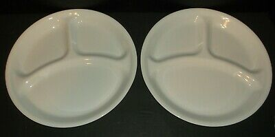 Divided Dish Corelle Livingware Winter Frost White Used Lot Of 2 Corning Usa