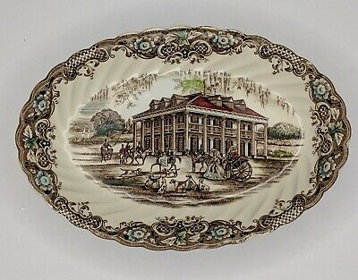 """Heritage Hall China 8"""" Platter Southern Plantation 4411 Made in England"""