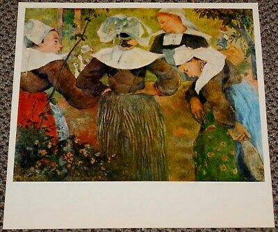 """1954 Vintage Full Color Art Plate /""""NATIVITY/"""" by PAUL GAUGUIN TROPICAL Lithograph"""