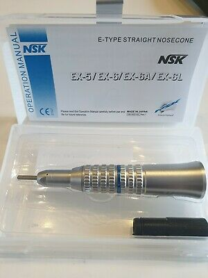 NSK EX-6 Dental E-Type Straight Nosecone Low Speed Handpiece 1:1 Low Speed