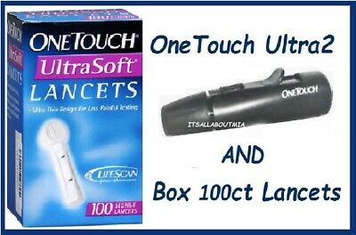 MINT Lifescan One Touch Ultra Ultra2 Lancing Device Pen, Sealed 100ct Lancets