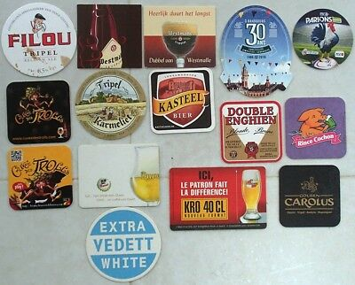 (Lot 05) Lot de 15 Sous-bocks - Bierdeckel - Coaster