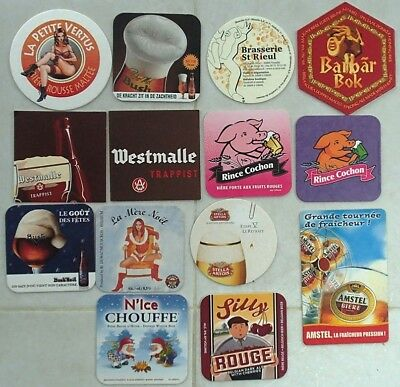 (Lot 03) Lot de 14 Sous-bocks - Bierdeckel - Coaster