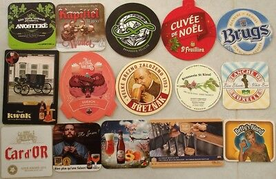 (Lot 01) Lot de 15 Sous-bocks - Bierdeckel - Coaster