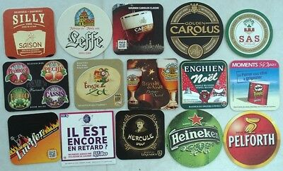 (Lot 07) Lot de 15 Sous-bocks - Bierdeckel - Coaster