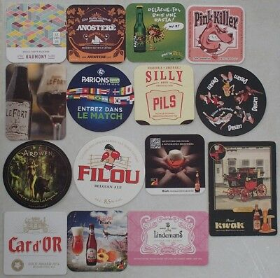 (Lot 02) Lot de 15 Sous-bocks - Bierdeckel - Coaster