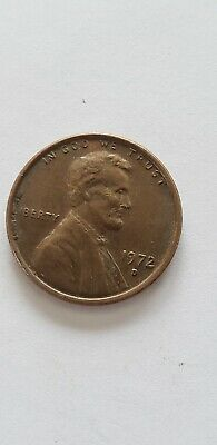 1972 D Lincoln Memorial Cent / Penny  Nice coin