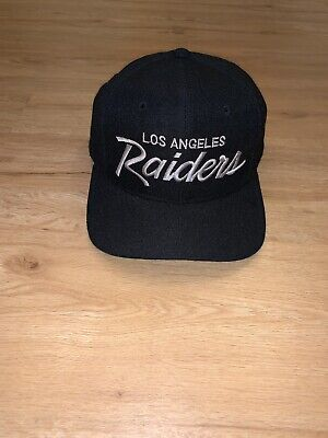 1c3dfe5bdc9c3c Vintage Los Angeles Raiders Sports Specialties Single Line Script Snapback  Hat