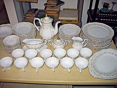 Set Of Mitterteich Lady Patricia China Bavaria, Germany 90 Pieces Coffee Pot