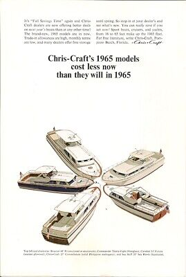 1964 VINTAGE AD Chris Craft 1965 Model Cost Less Now Than in 65