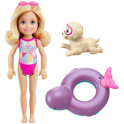 NIB Barbie Dolphin Magic Chelsea Doll Puppy Squirt Toy Color Change Float Purple