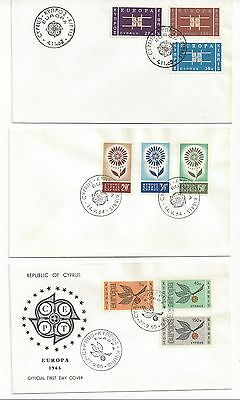 Cyprus    --3 Europa Covers    1963  ,1964  ,  1965  Cept       [Lot 199]